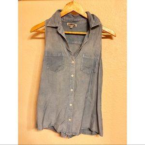 Tops - Blue jean sleeveless top